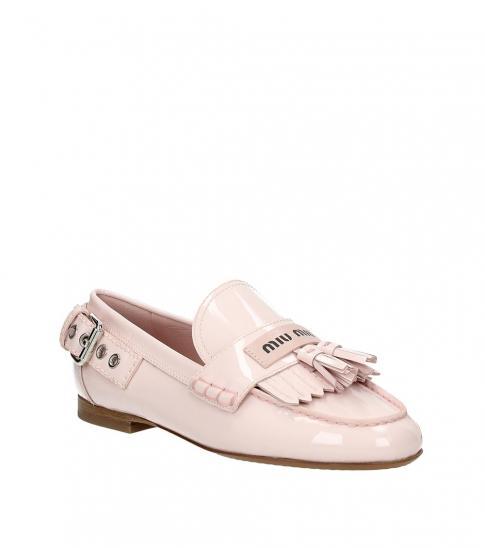 Miu Miu Pink Tassel Front Loafers