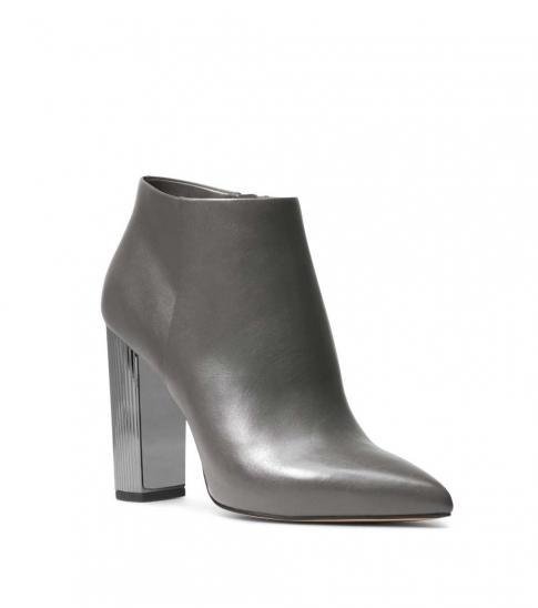 Michael Kors Charcoal Paloma Leather Booties