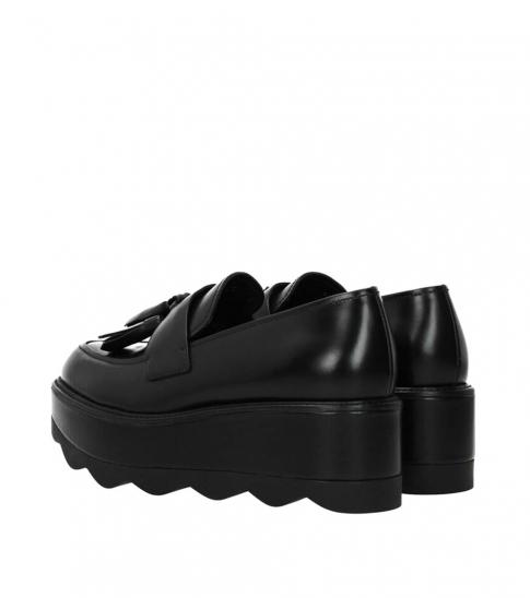 Prada Black Tassels Front Loafers