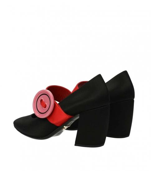 Prada Black Side Logo Heels