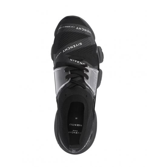 Givenchy Black Jaw Signature Print Sneakers