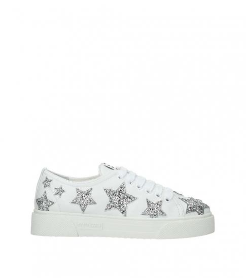 Miu Miu White Silver Stars Embellished
