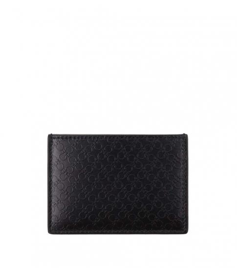 Salvatore Ferragamo Black Logo Modish Card Holder