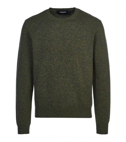 Dsquared2 Olive Solid Pullover Sweater