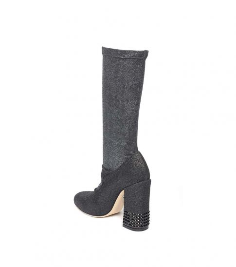 Dolce & Gabbana Black Lurex Boots