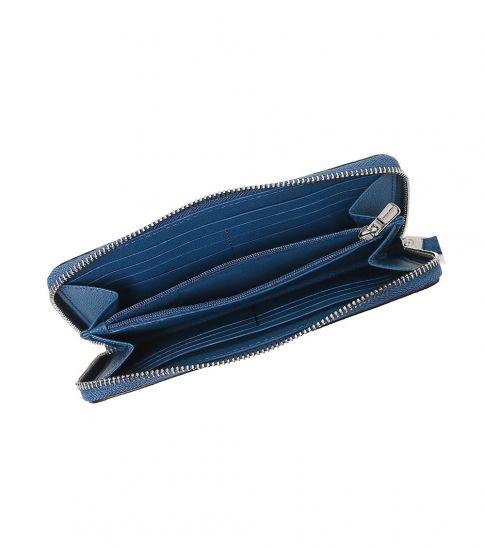 Coach Royal Blue Accordion Wallet
