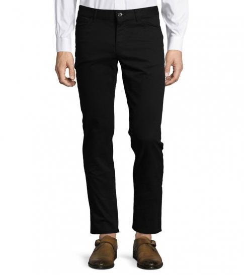 Michael Kors Black Parker Slim Fit Stretch Pants