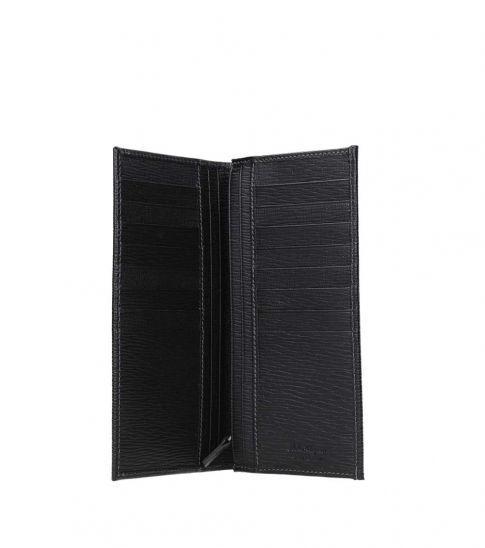 Salvatore Ferragamo Black Logo Plaque Long Wallet