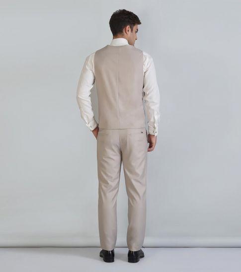 Self Stitch Self Stitch's Overlap Beige Waistcoat