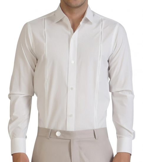 Self Stitch Side Tucks Dress Shirt