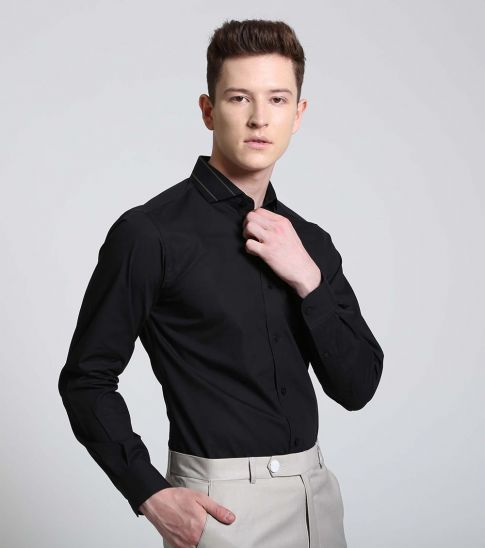 Self Stitch Statement Collar Shirt