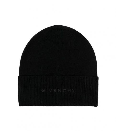 Givenchy Black Logo Beanie Hat