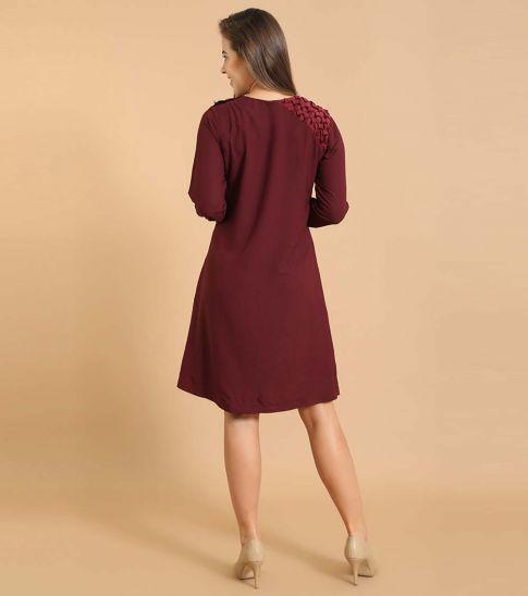 Self Stitch Shoulder Smock Dress