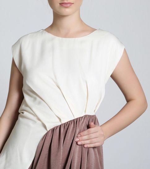 Self Stitch Half N Half Dress