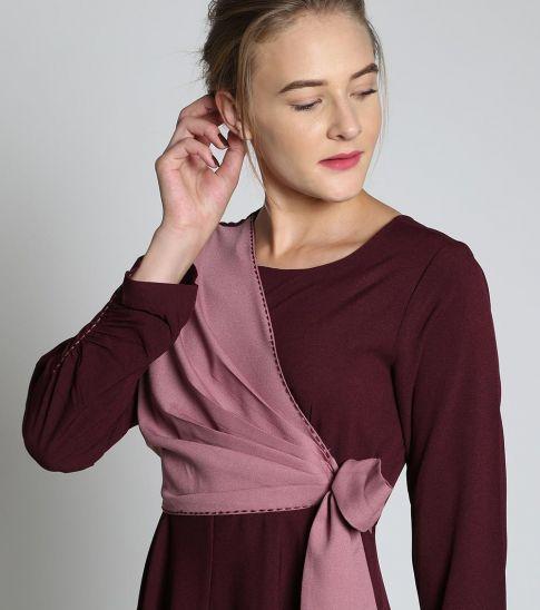 Self Stitch Grape Stitch Dress