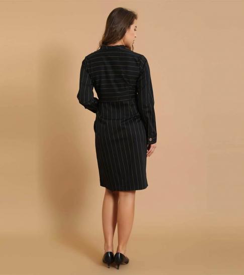 Self Stitch Stripe Blazer Dress