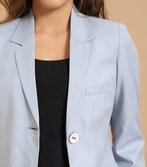 Self Stitch Powder Blue Two Button Blazer