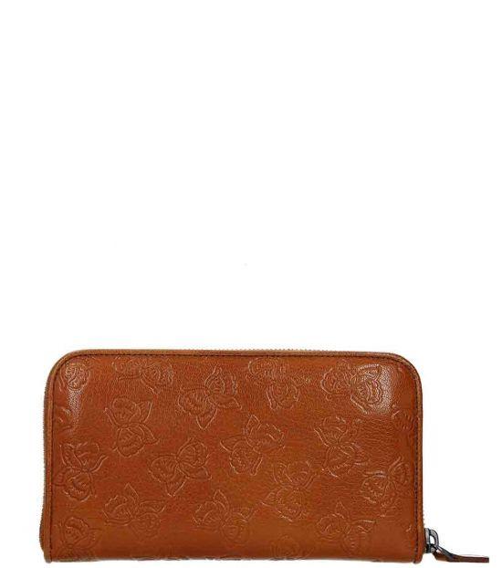 Bottega Veneta Light Brown Zip Around Wallet