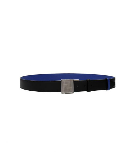 Fendi Black Blue Reversible Belt