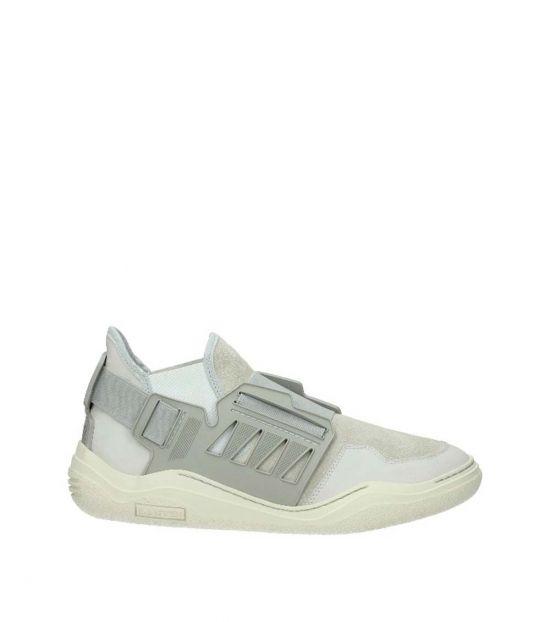 Lanvin Grey Elastic Strap Sneakers