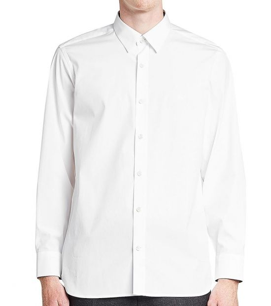 Burberry White William Solid Shirt