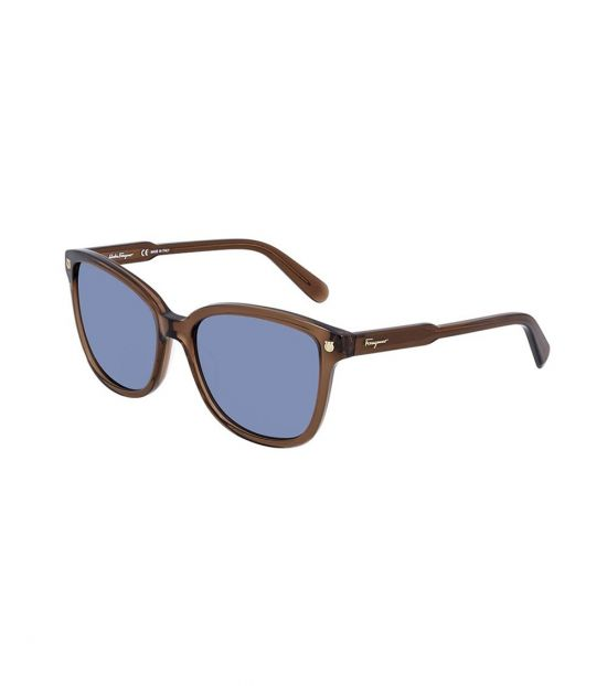 Salvatore Ferragamo Brown Square Sunglasses