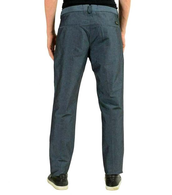 Hugo Boss Grey Striped Casual Pants