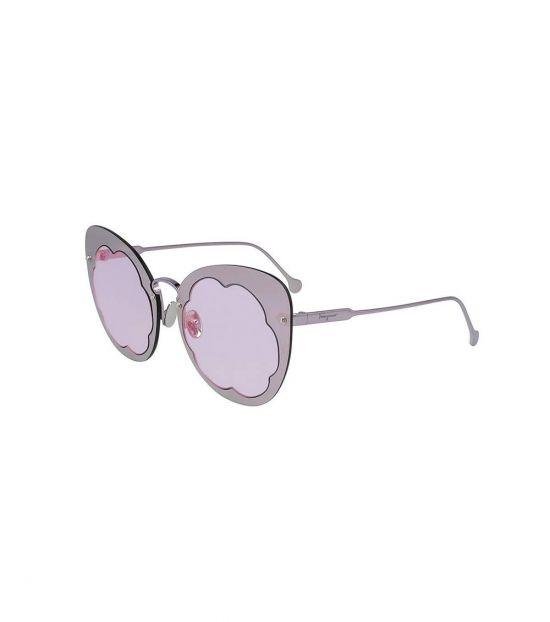 Salvatore Ferragamo Purple Cat Eye Sunglasses