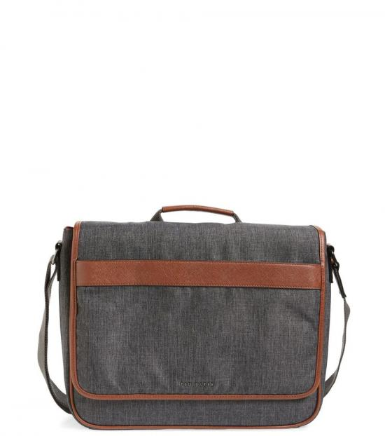 Ted Baker Grey Edds Large Messenger Bag