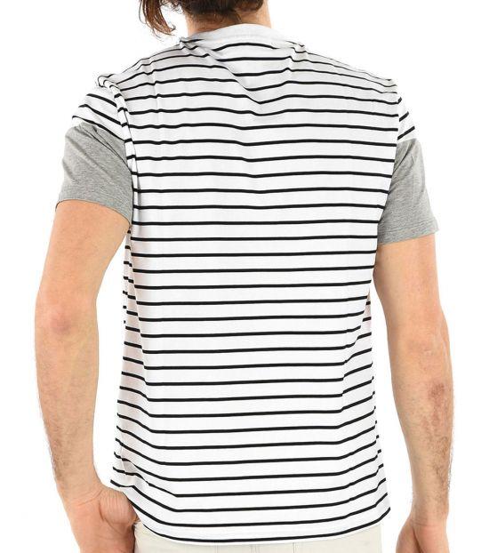 Neil Barrett White Hidden Closure Thunderbolt Shirt