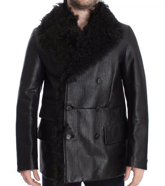 Dolce & Gabbana Black Fur Collar Jacket