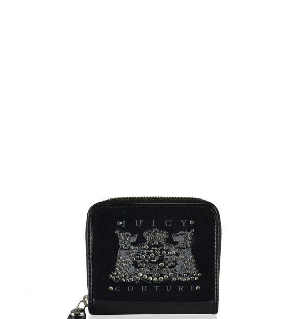 Juicy Couture Black Studded Zip Around Wallet