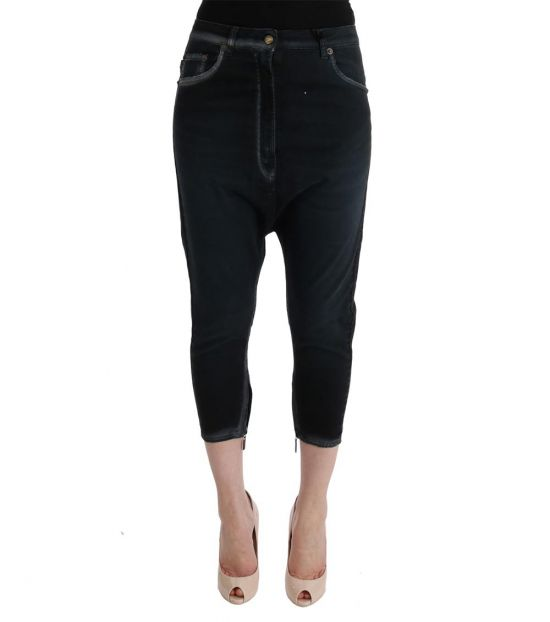 Just Cavalli Black Stretch Baggy Jeans