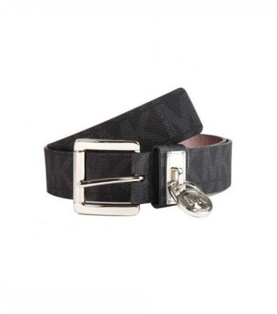 Michael Kors Black Hamilton Lock Belt