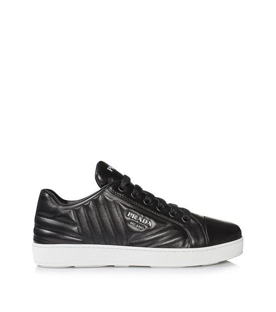 Prada Black Logo Low Top Sneakers
