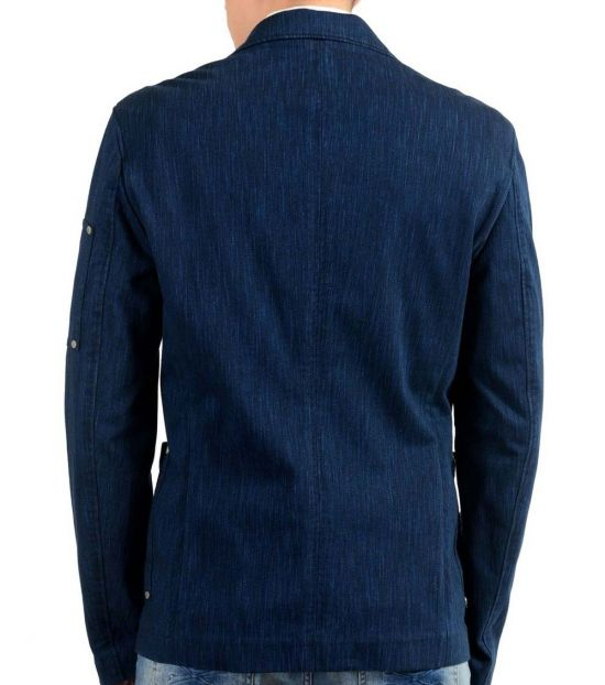 Versace Jeans Blue Two Button Sport Coat