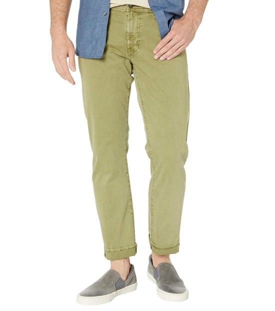 AG Adriano Goldschmied Sulfur Olivewood Tailored Straight Pants