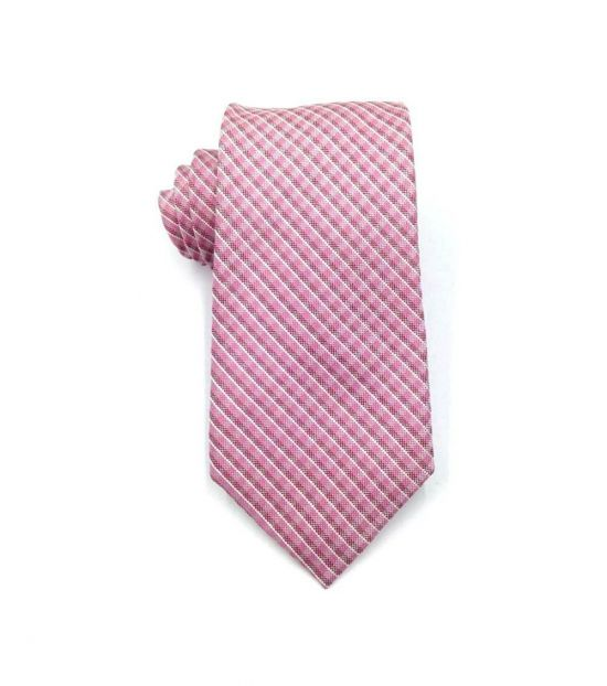 Michael Kors Pink Dapper Plaid Slim Silk Tie