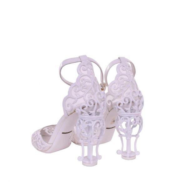 Dolce & Gabbana White Ankle Strap D'Orsay Heels