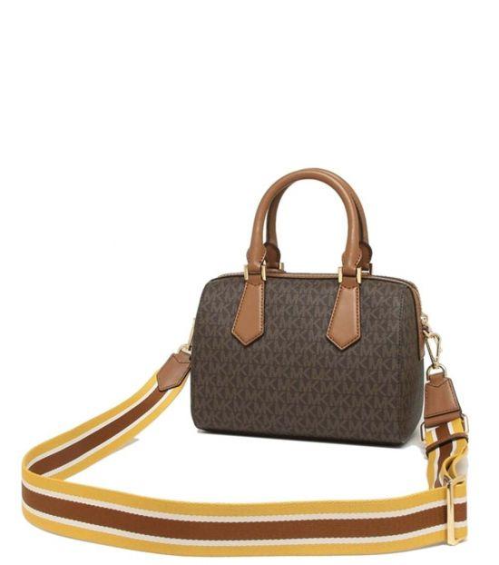 Michael Kors Brown/Luggage Hayes Small Satchel