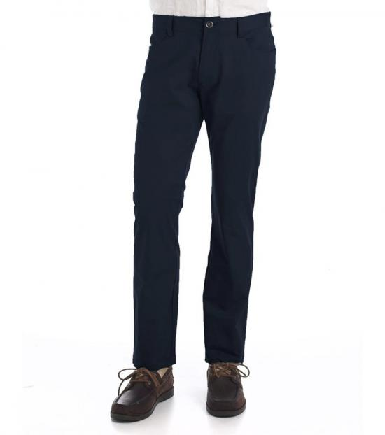 Calvin Klein Officer Navy Slim-Fit Sateen Pants