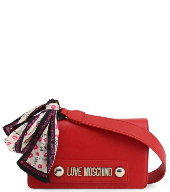 Love Moschino Red Scarf Small Crossbody