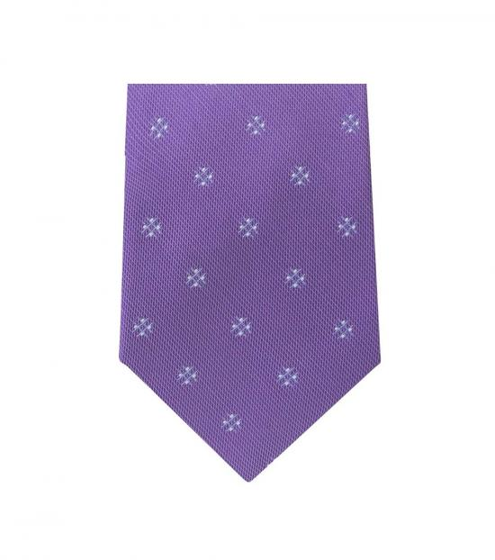 Michael Kors Purple Timeless  Floral Slim Silk Tie