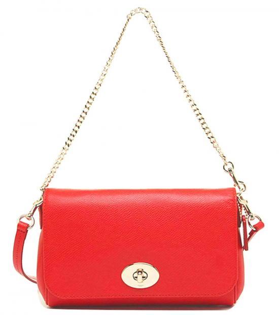 Coach Orange Turnlock Small Shoulder Bag