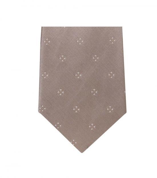 Michael Kors Light Brown Modern Floral Slim Silk Tie