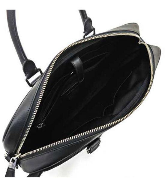 Coach Black Slim Signature Large Briefcase Bag