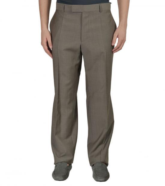 Hugo Boss Olive Wool Dress Pants