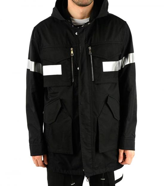 Neil Barrett Black Cotton Blend Jacket