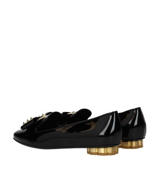 Salvatore Ferragamo Black Sarno Studded Loafers