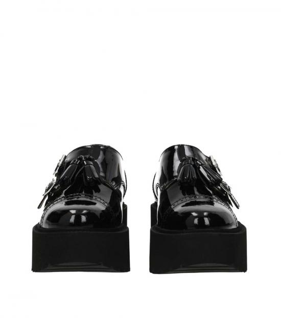 Hogan Black Monk Strap Dress Shoes